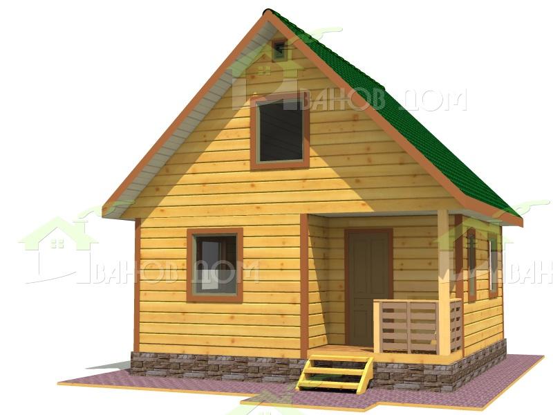 Строительство дома из бруса 8 на 6 с мансардой своими руками 32