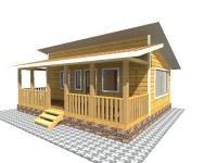 Каркасный дом 6х8   Деревянные дома и коттеджи