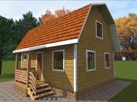 Дом из бруса 6х7 | Деревянные дома и коттеджи