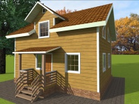 Дом из бруса 6х8 | Деревянные дома и коттеджи