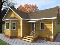 Дом из бруса 8х10 | Деревянные дома и коттеджи