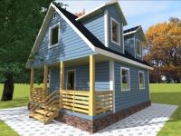 Каркасный дом 6х8 | Деревянные дома и коттеджи