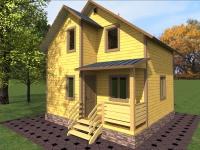 Каркасный дом 6х6 | Деревянные дома и коттеджи