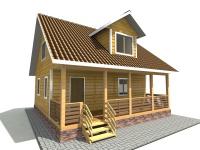Дом из бруса 8х8 | Деревянные дома и коттеджи