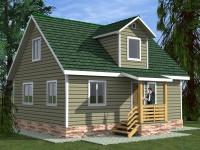 Каркасный дом 7х9 | Деревянные дома и коттеджи