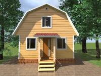 Дом из бруса 4х6 | Деревянные дома и коттеджи