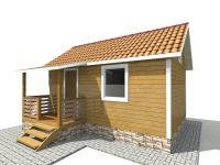 Каркасный дом 4х6 | Деревянные дома и коттеджи
