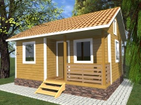 Каркасный дом 4,5х6 | Деревянные дома и коттеджи