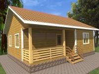 Дом из бруса 8х9 | Деревянные дома и коттеджи